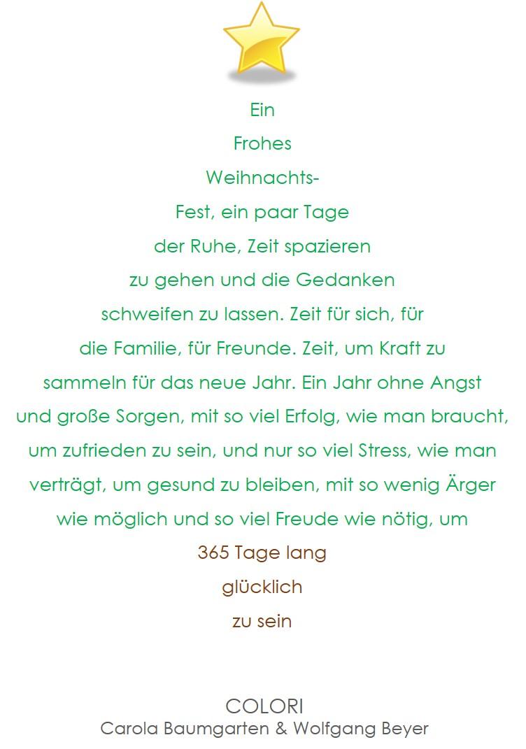COLORI wünscht Frohe Weihnachten